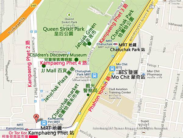 Chatuchak Park Kamphaeng Phet MAP