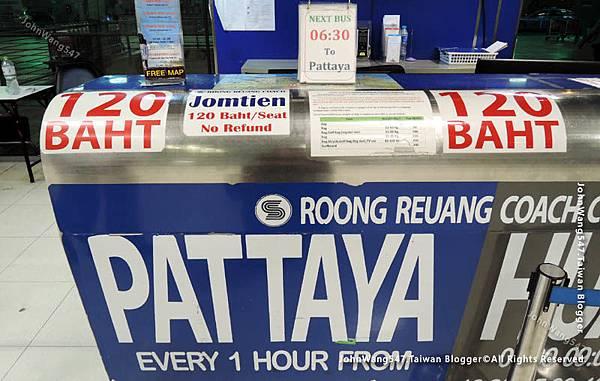 Suvarnabhumi Airport曼谷機場搭巴士到Pattaya bus