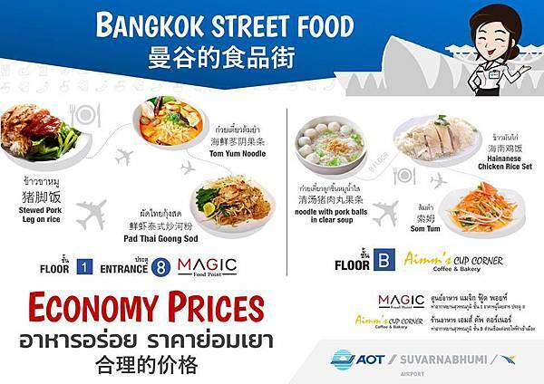 Suvarnabhumi airport economy-price Magic Food Point