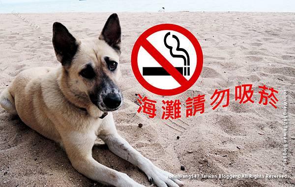 泰國海灘禁止抽菸