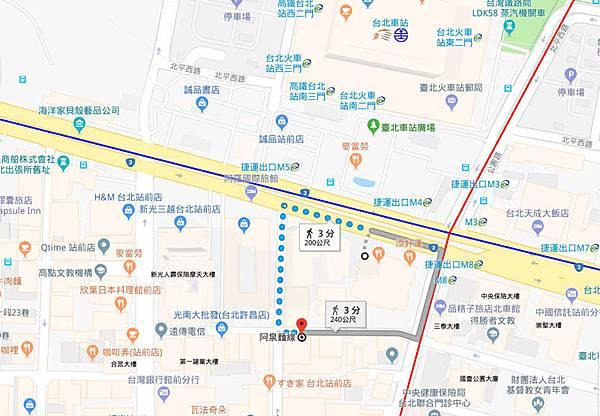 台北阿泉麵線臭豆腐地圖