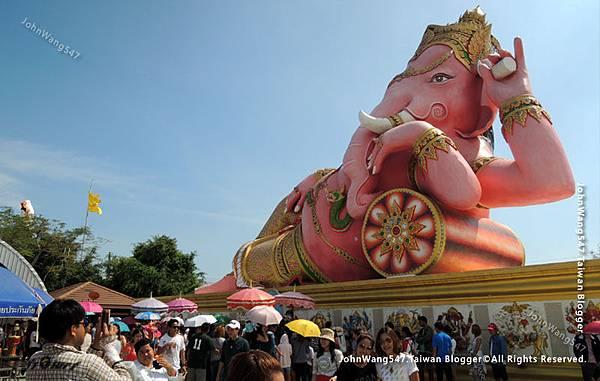 粉紅象神廟Pink Ganesha Wat Saman Rattanaram