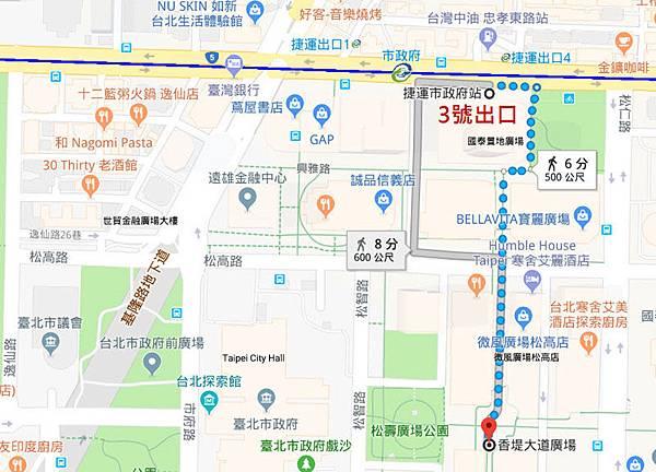 台北市信義區香堤大道廣場map