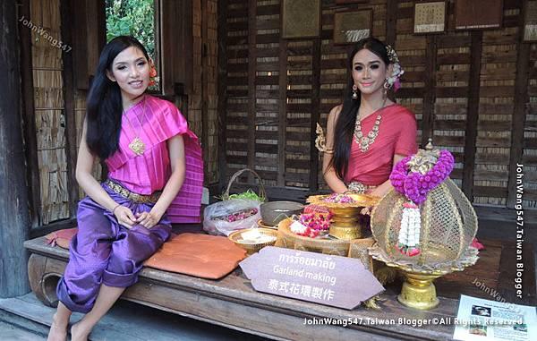 泰國文化節 祈福花圈製作示範