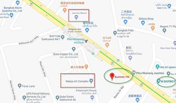 Summer Hill Phra Khanong map