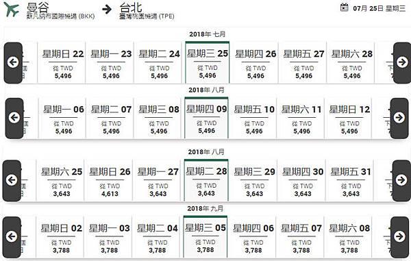 長榮航空(EVA)夏季曼谷機票價格2.jpg