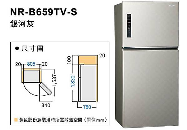 Panasonic無邊框鋼板系列650L ECONAVI 國際電冰箱