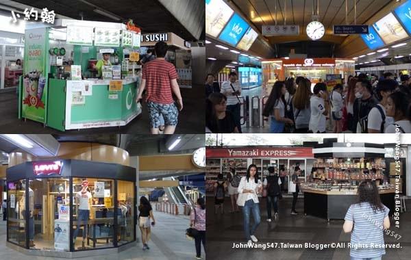 BTS捷運商店速食店匯兌所