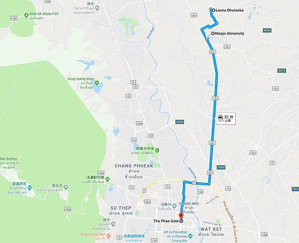 Mae Jo University Lanna Dhutanka Buddhist Center MAP