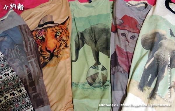 泰國必買可愛動物T恤