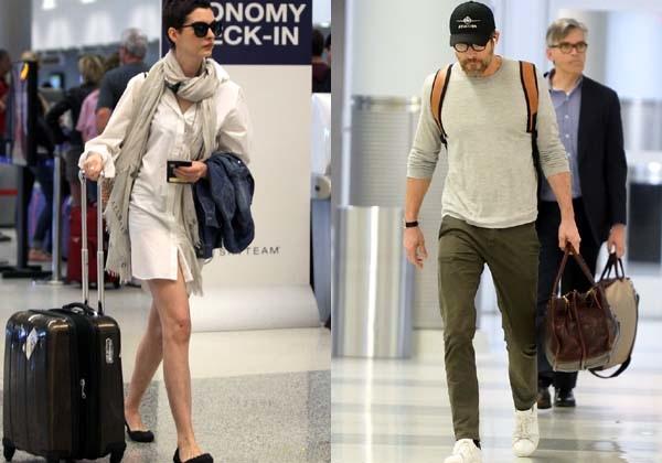 Ryan Reynold Anne Hathaway airport look