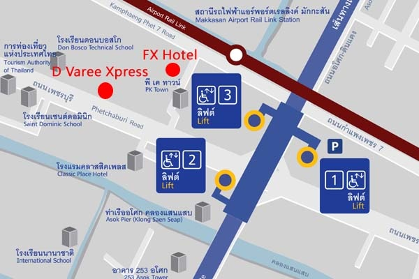 FX Hotel Metrolink Makkasan MAP.jpg