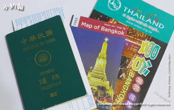 護照與泰國入境卡