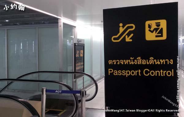 曼谷BKK機場護照檢查