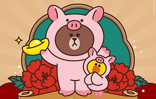 豬年熊大扮豬萌樣
