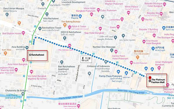 Bangkok Platinum Fashion Mall walk map2.jpg