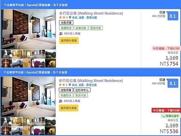 agoda訂飯店 降價出清中