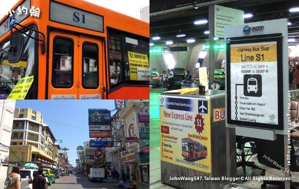 S1 BUS to Khaosan Road