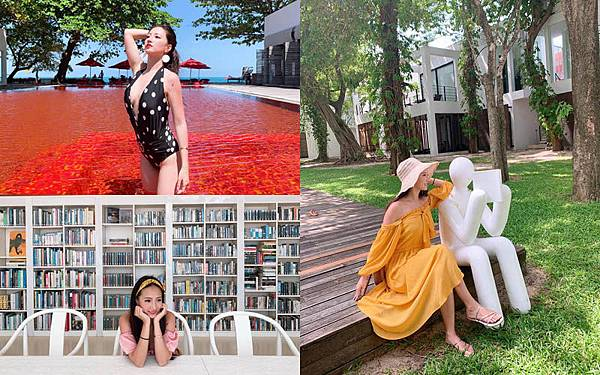 林采緹蘇梅島The Library Hotel red pool Koh Samui.jpg