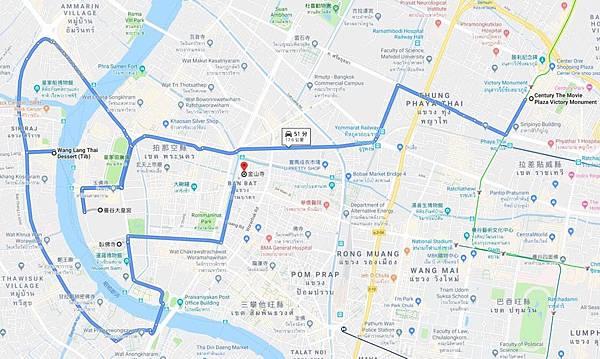 曼谷大皇宮一日遊路線圖