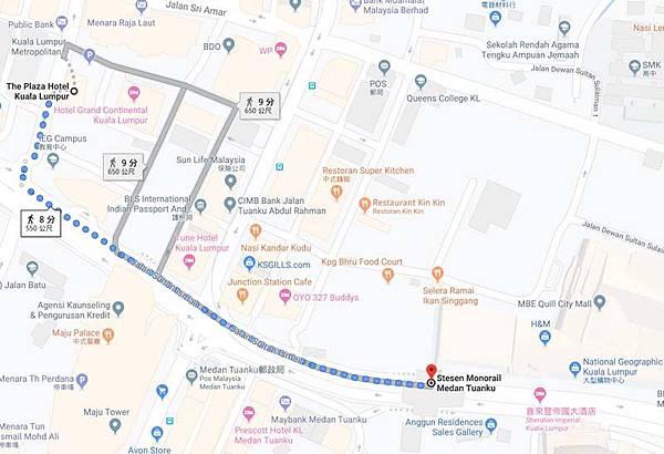 The Plaza Hotel Kuala Lumpur map2.jpg