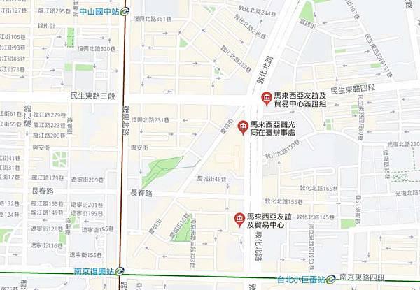 馬來西亞觀光局在臺辦事處map.jpg