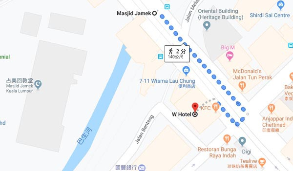 W Hotel@Masjid Jamek Kuala Lumpur MAP