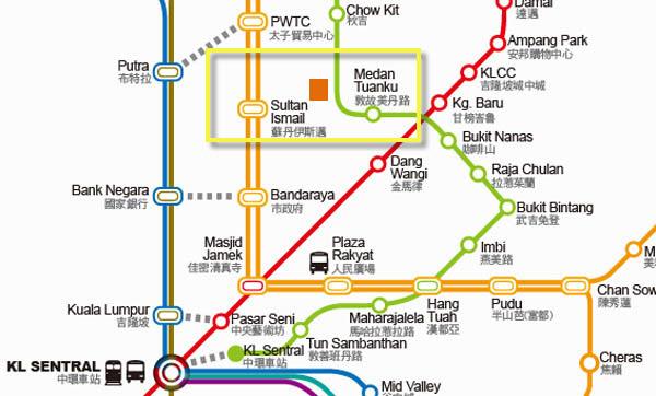 The Plaza Hotel Kuala Lumpur MRT MAP.jpg