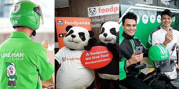 Grab,Foodpanda LINE MAN Thailand