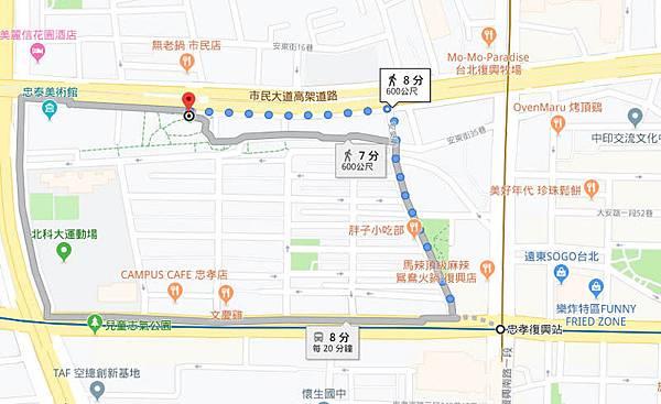 駐台北泰國貿易經濟辦事處新位置map