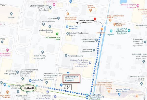 Divana Scentuara Spa map