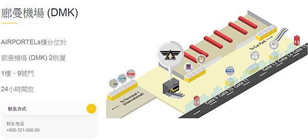 廊曼機場(DMK)AIRPORTELs櫃台