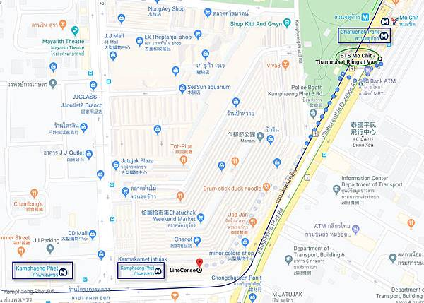 LineCense T-Shirt Chatuchak  market map.jpg