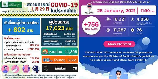 2021年1月29日泰國新冠肺炎確診數據.jpg