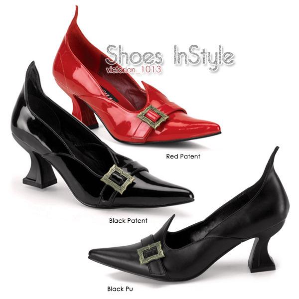 《2吋》美國品牌 SALEM 精靈復古漆皮尖頭低跟包鞋.jpg
