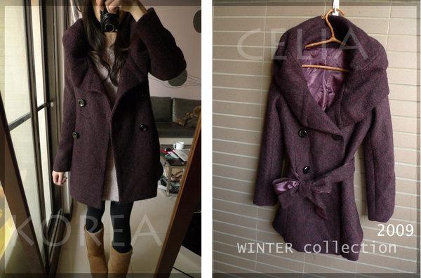 紫花苞領大衣-賣家照片1.jpg