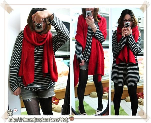 新年採購戰果-正紅圍巾.jpg