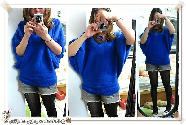 新年採購戰果-藍色蝴蝶袖針織衫B.jpg