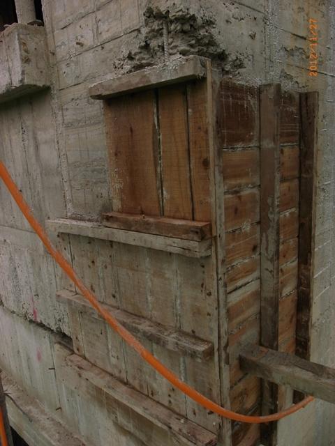 修補牆角蜂窩板模