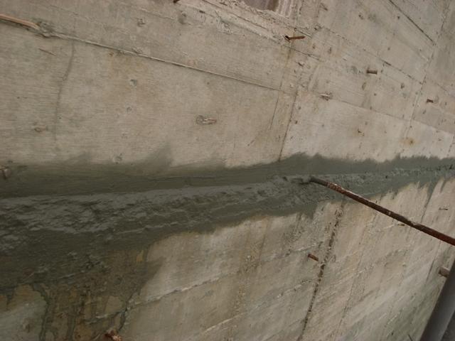 樓層間銜接處塗抹Xypex防水-5