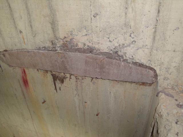 用無收縮水泥修補完成-3