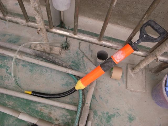 自製清理落水頭工具