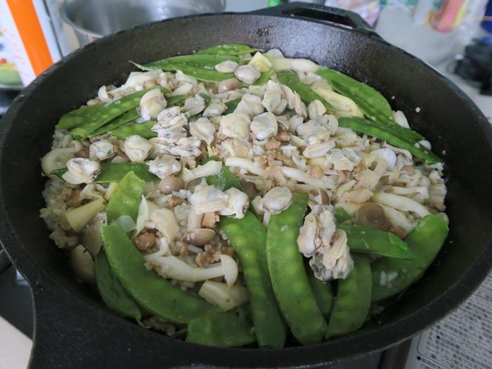 豌豆蛤蜊燉飯