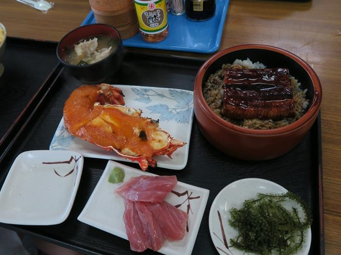 龍蝦+鰻魚蓋飯套餐 4500円