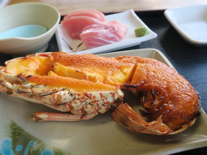 半隻龍蝦+生魚片