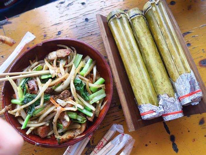石板烤肉+竹筒飯