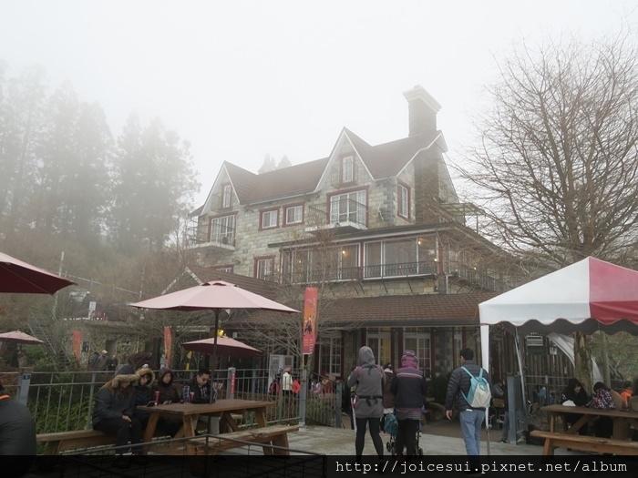 被霧包圍了