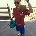 田田買了一包要釣魚用(50元)