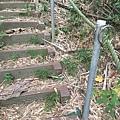 是木階梯+扶繩