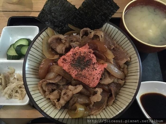 明太子牛丼 220元